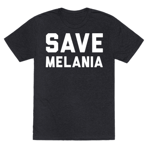 Save Melania White Print