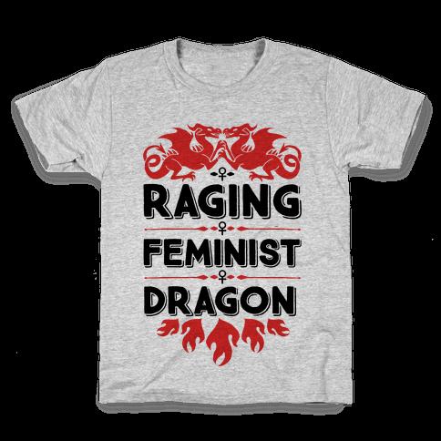 Raging Feminist Dragon Kids T-Shirt