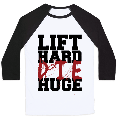Lift Hard Baseball Tee