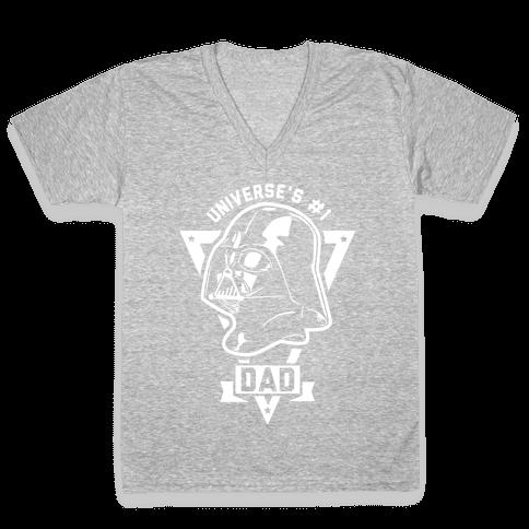 Darth Dad V-Neck Tee Shirt