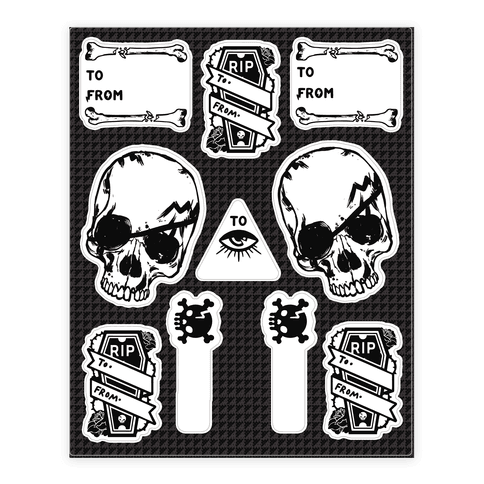Occult Gift Tags Sticker/Decal Sheet