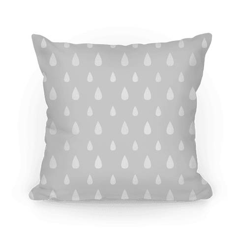 Gray Tear Drop Pattern Pillow