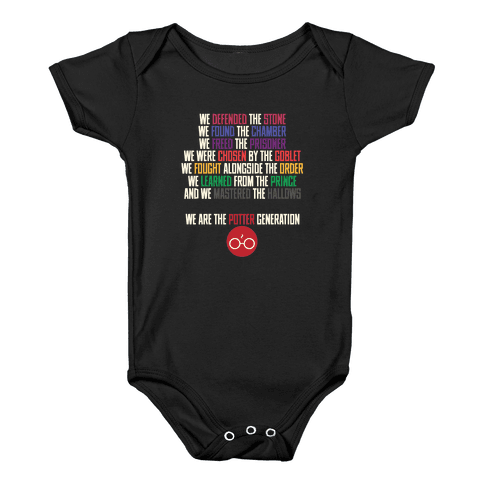 We Are the Potter Generation Baby Onesy
