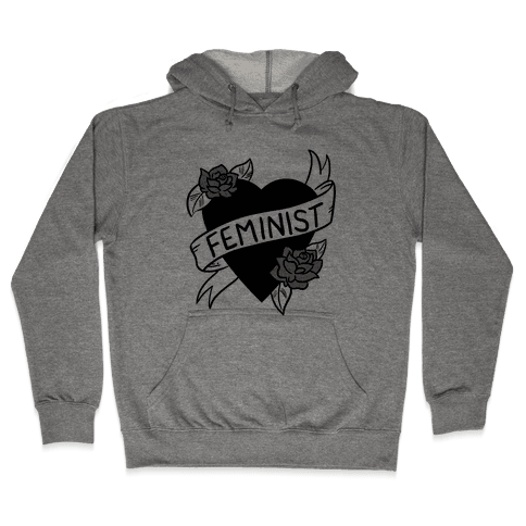 Feminist Heart Hooded Sweatshirt