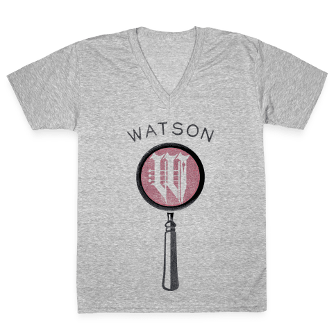 Sherlock & Watson (Part 2) V-Neck Tee Shirt