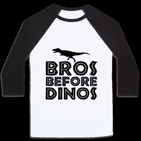 Bros Before Dinos Baseball Tee