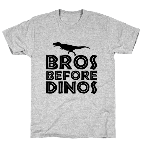 Bros Before Dinos Mens T-Shirt