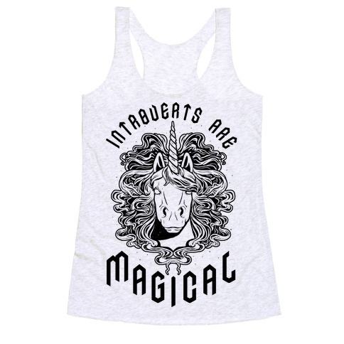 Introverts are Magical Racerback Tank Top