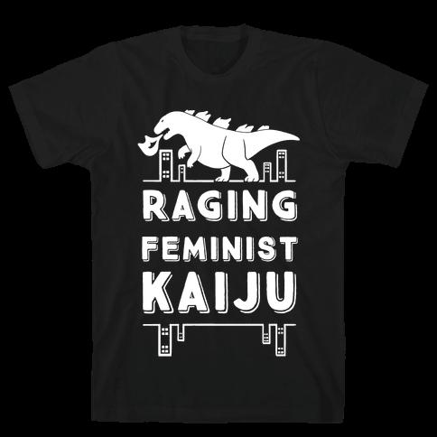 Raging Feminist Kaiju Mens T-Shirt