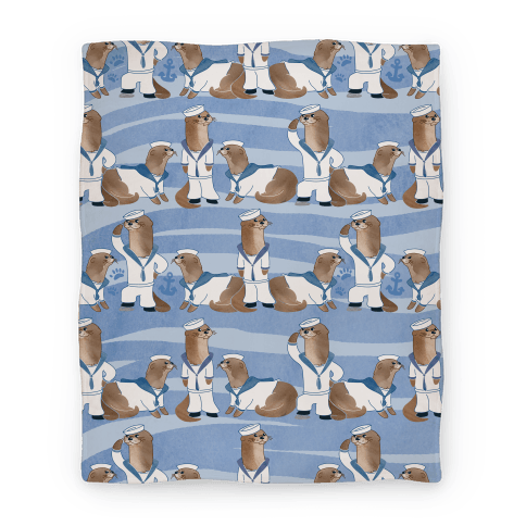 Sea Sailor Otters Blanket