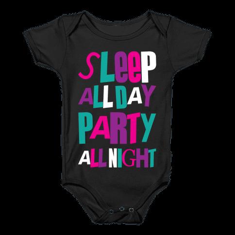 Party All Night Baby Onesy