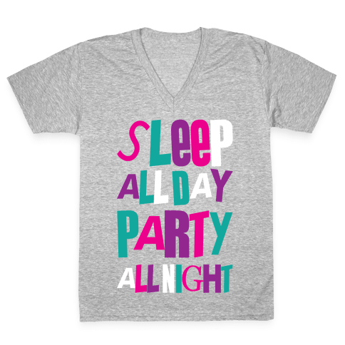 Party All Night V-Neck Tee Shirt