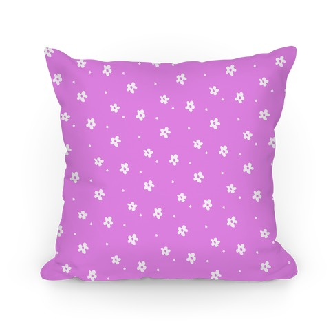 Purple Dainty Floral Pattern Pillow