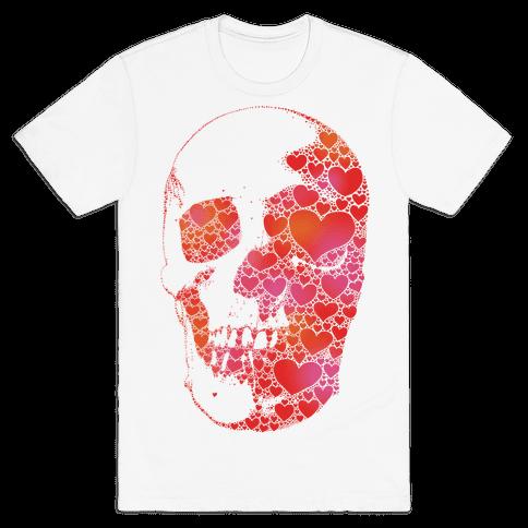Heart Skull Mens T-Shirt