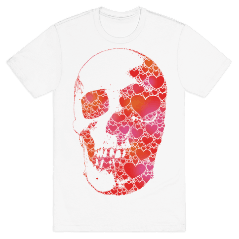 Heart Skull Mens T-Shirt