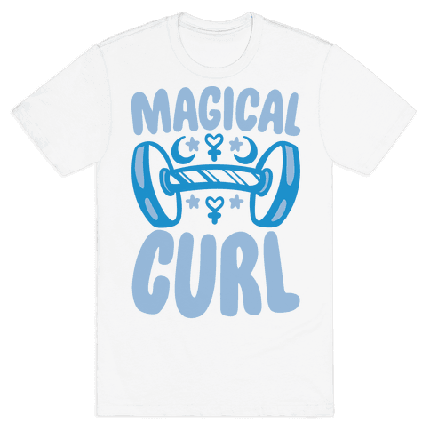 Magical Curl Parody Mens T-Shirt