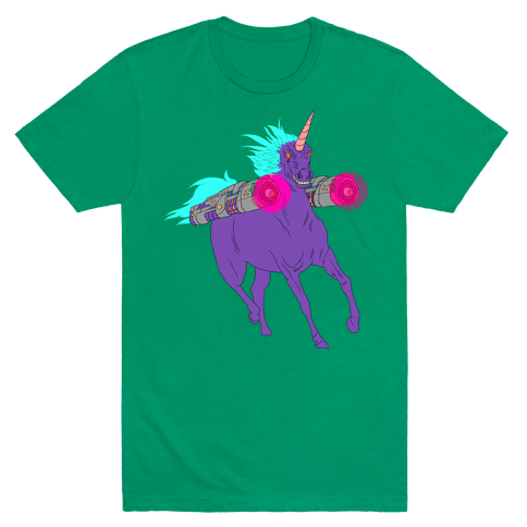 LASER WARRIOR UNICORN Mens T-Shirt
