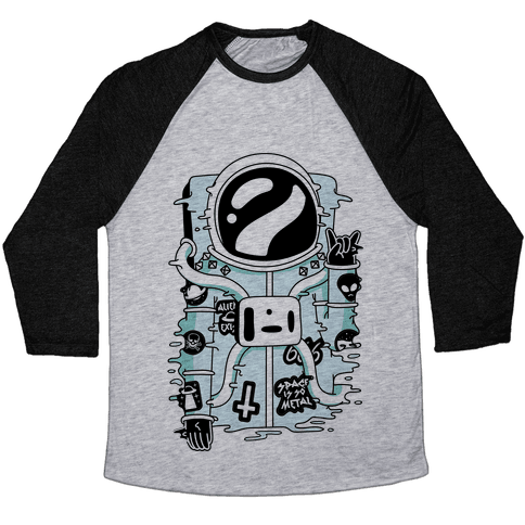 Space Is So Metal Baseball Tee