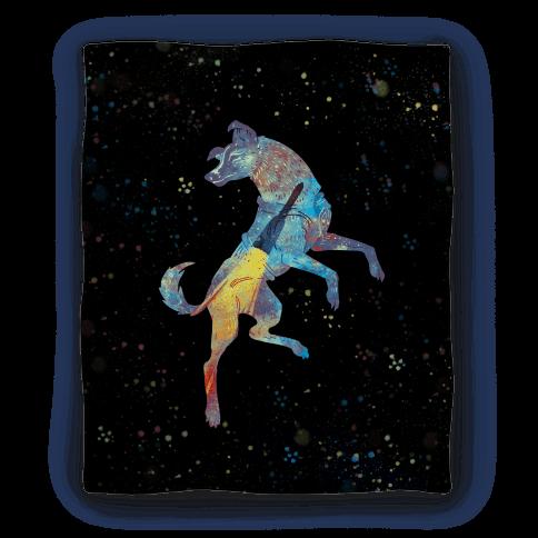 Astronaut Dog Laika Blanket