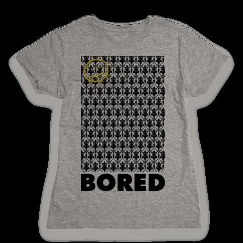 Sherlock Bored Womens T-Shirt