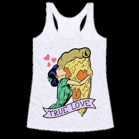 True Love Comics and Pizza Racerback Tank Top