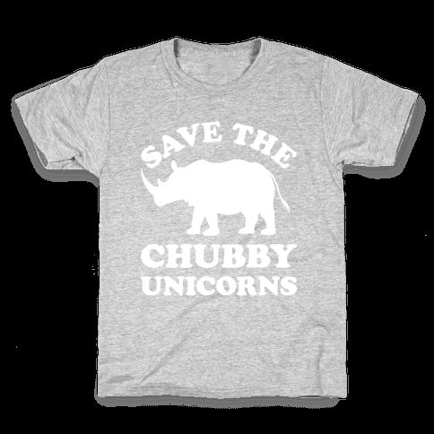 Save The Chubby Unicorns Kids T-Shirt