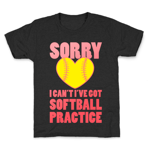 Softball Practice Kids T-Shirt