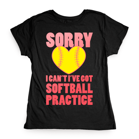 Softball Practice Womens T-Shirt