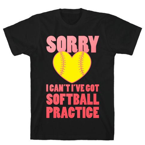 Softball Practice Mens T-Shirt