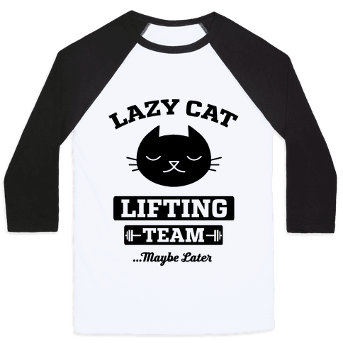 Lazy Cat Lifting Team Baseball Tee