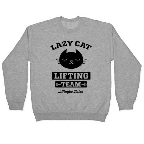 Lazy Cat Lifting Team Pullover