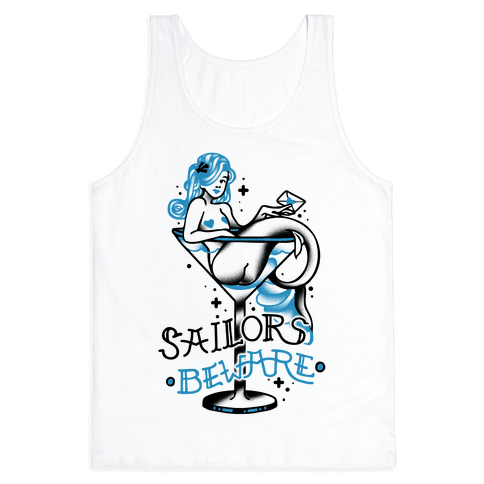 Sailors Beware Classic Tattoo Tank Top