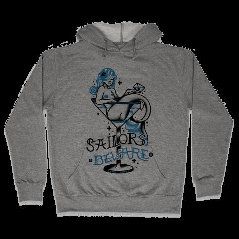 Sailors Beware Classic Tattoo Hooded Sweatshirt