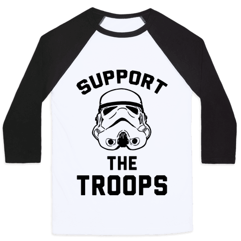 Support The Troops Baseball Tee
