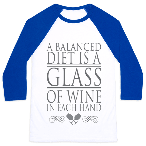 WINE DIET Baseball Tee