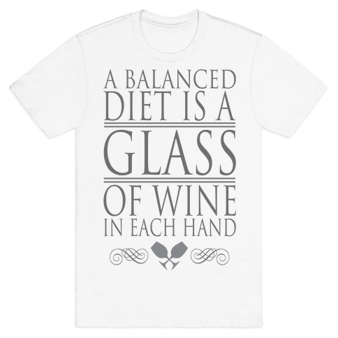 WINE DIET Mens T-Shirt
