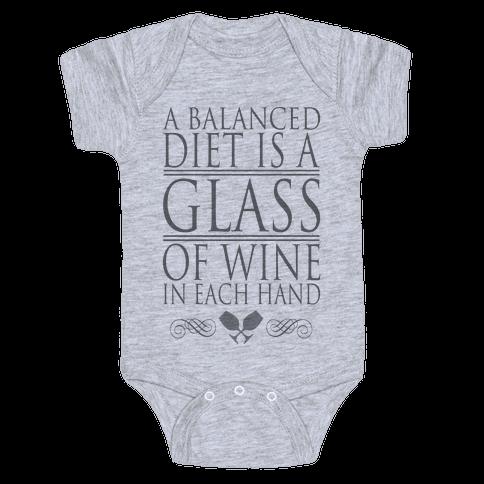 WINE DIET Baby Onesy