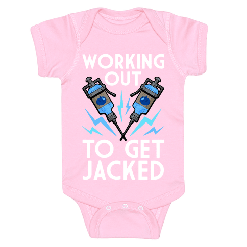 Working Out To Get Jacked Baby Onesy