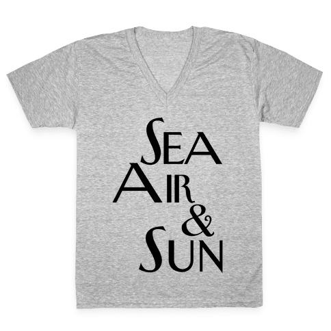 Sea, Air and Sun V-Neck Tee Shirt