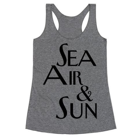Sea, Air and Sun Racerback Tank Top