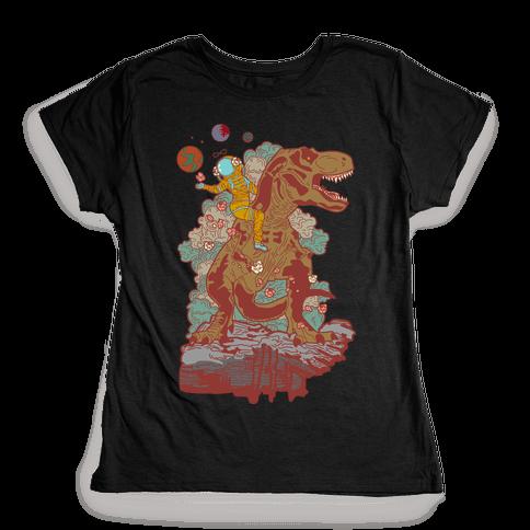 Dinosaur Strength Tarot Womens T-Shirt