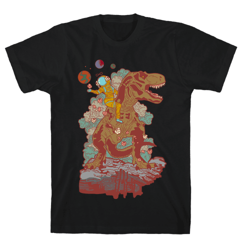 Dinosaur Strength Tarot Mens T-Shirt