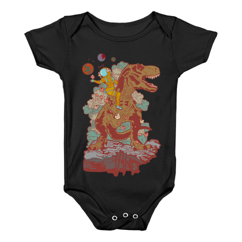 Dinosaur Strength Tarot Baby Onesy