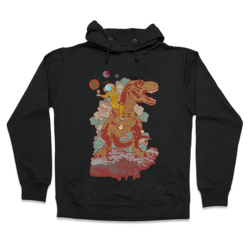 Dinosaur Strength Tarot Hooded Sweatshirt
