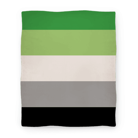 Aromantic Pride Flag Blanket