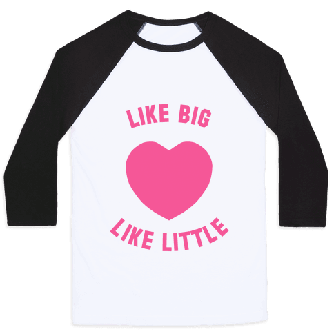 Like Big Like Little (Heart) Baseball Tee