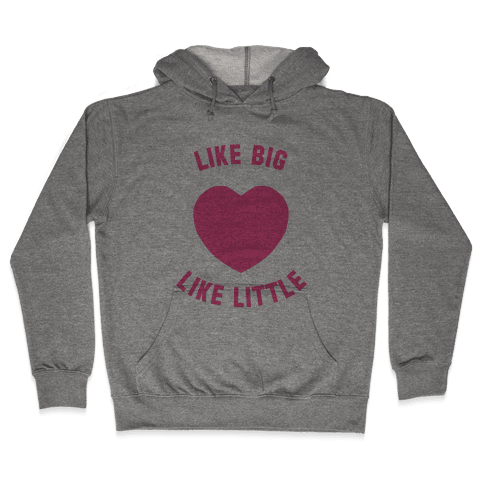 Like Big Like Little (Heart) Hooded Sweatshirt