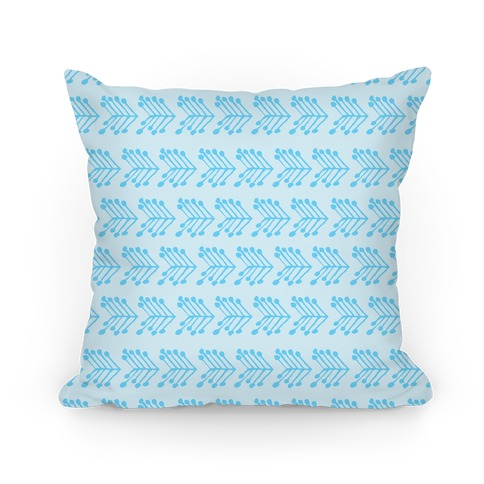 Blue Cute Chevron Pattern Pillow
