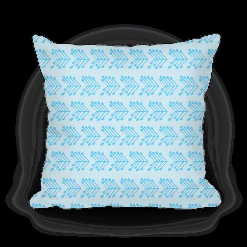 Blue Cute Chevron Pattern Pillow
