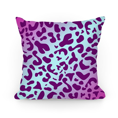 Purple Leopard Print Pillow